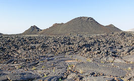 Volcanic Landscape on a Clear Morning Royalty Free Stock Photo