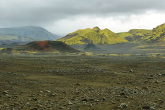 Volcanic landscape covered with moss Royalty Free Stock Photos