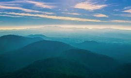Volcanic Landscape at Dusk Royalty Free Stock Photography