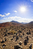 Volcanic landscape at Fuerteventura Royalty Free Stock Image