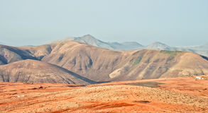 Volcanic landscape of Fuerteventura mountains Royalty Free Stock Photo