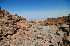 Volcanic landscape geologic detail in teide national park. Volcanic landscape geologic detail in teide national park, Tenerife, Canary islands, Spain Stock Photos