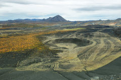 Volcanic landscape from Hverfjall crater Royalty Free Stock Image