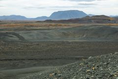 Volcanic landscape from Hverfjall crater Stock Photo