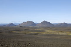Volcanic landscape in Iceland. Stock Photo