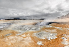 Volcanic landscape at Iceland Royalty Free Stock Images