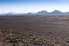 Volcanic landscape, Iceland. Volcanic landscape in the northeast of the island, Iceland Royalty Free Stock Images