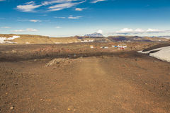 Volcanic landscape - interior of Iceland. Royalty Free Stock Images