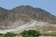 Volcanic landscape on the island of Nisyros, Greece Stock Images