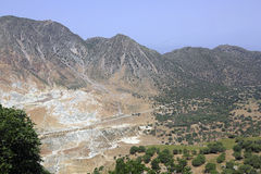 Volcanic landscape on the island Nisyros, Greece Royalty Free Stock Photography