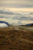 Volcanic landscape at Krafla. Iceland Royalty Free Stock Images