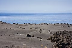Volcanic landscape at La Palma, Canary islands Royalty Free Stock Photography
