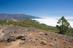 Volcanic landscape of La Palma, Canary Islands Stock Image
