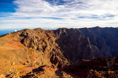 Volcanic landscape on La Palma island Stock Photo
