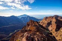 Volcanic landscape on La Palma island Royalty Free Stock Photos