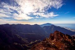 Volcanic landscape on La Palma island Stock Photography