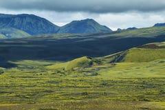 Volcanic landscape in Lakagigar Royalty Free Stock Image