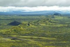 Volcanic landscape in Lakagigar Stock Photos