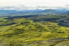 Volcanic landscape in Lakagigar Royalty Free Stock Photos