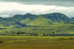 Volcanic landscape in Lakagigar Stock Image
