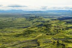 Volcanic landscape in Lakagigar Stock Photography