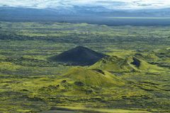 Volcanic landscape in Lakagigar Royalty Free Stock Photography