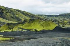 Volcanic landscape in Lakagigar Stock Images