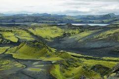 Volcanic landscape in Lakagigar Royalty Free Stock Photography