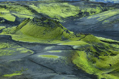 Volcanic landscape in Lakagigar Stock Photo