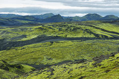 Volcanic landscape in Lakagigar Royalty Free Stock Images