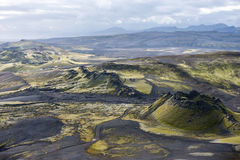 Volcanic landscape in Lakagigar, Laki craters, Iceland Stock Photography