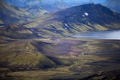 Volcanic Landscape - Landmannalaugar, Iceland Stock Image
