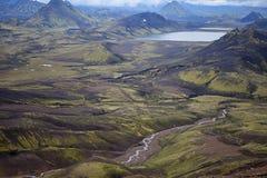 Volcanic Landscape - Landmannalaugar, Iceland Stock Photo