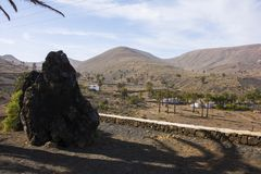 The volcanic landscape of lanzarote Royalty Free Stock Images