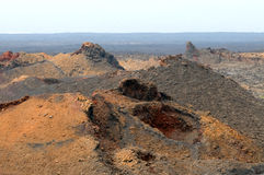 Volcanic landscape  - Lanzarote, Canarian Islands. Royalty Free Stock Images