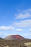 Volcanic landscape at Lanzarote, Canary islands Royalty Free Stock Images