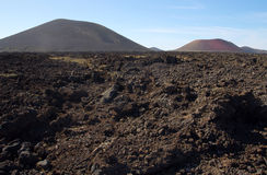 Volcanic landscape of Lanzarote stock photography