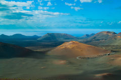 Volcanic landscape from Lanzarote island, Spain. Royalty Free Stock Image