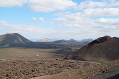 Volcanic landscape from Lanzarote island, Spain. Stock Photo