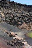 Volcanic landscape on Lanzarote Island, Spain Stock Photography
