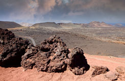 Volcanic landscape, Lanzarote Royalty Free Stock Photo