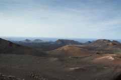 Volcanic landscape in Lanzarote Royalty Free Stock Image