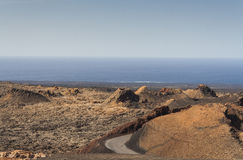 Volcanic landscape in Lanzarote Royalty Free Stock Photo
