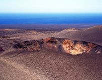 Volcanic landscape, Lanzarote. royalty free stock photography