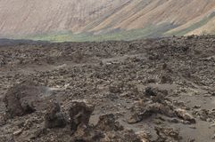 Volcanic landscape in Los Volcanes Natural Park. Tinajo. Lanzarote. Canary Islands. Spain stock image