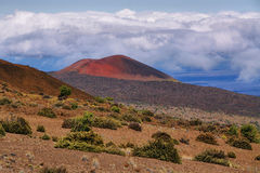 Volcanic landscape from Mauna Kea Stock Photography
