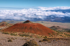 Volcanic landscape from Mauna Kea Royalty Free Stock Photo
