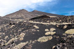 Volcanic landscape, Mount Etna, Sicily stock photo