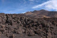 Volcanic landscape, Mount Etna, Sicily Royalty Free Stock Photos