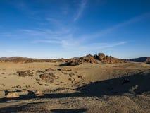 Volcanic Landscape. Mountain range - desert - sand - rocks -  blue sky - no people Stock Photography